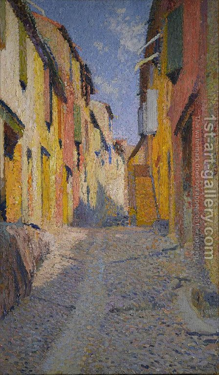 Collioure street by Henri Martin - Reproduction Oil Painting
