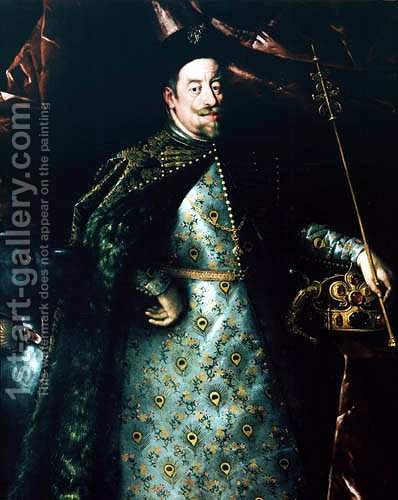 Matthias, Holy Roman Emperor, as King of Bohemia by Hans Von Aachen - Reproduction Oil Painting