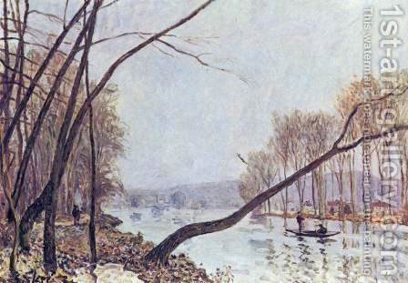 Bank, in the autumn by Alfred Sisley - Reproduction Oil Painting