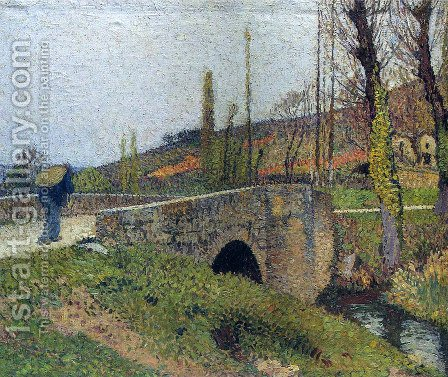 The Little Bridge by Henri Martin - Reproduction Oil Painting