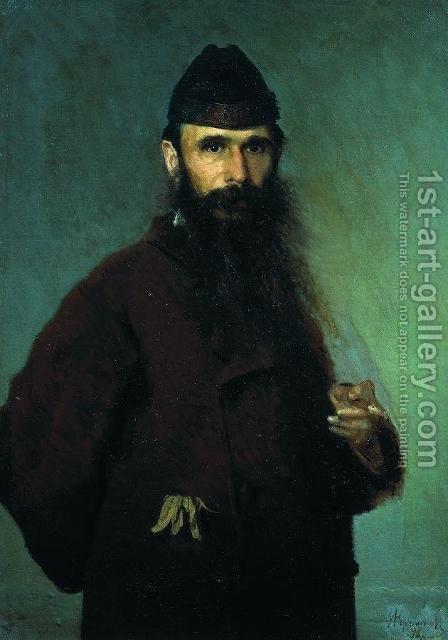 Portrait of the artist Alexander Dmitrievich Litovchenko by Ivan Nikolaevich Kramskoy - Reproduction Oil Painting