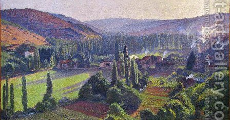 Labastide du Vert in Marquayrol by Henri Martin - Reproduction Oil Painting