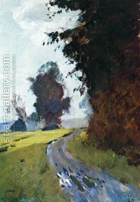 Evening. Path. by Isaak Ilyich Levitan - Reproduction Oil Painting