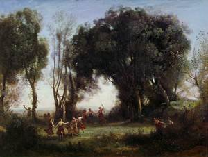 Reproduction oil paintings - Jean-Baptiste-Camille Corot - Morning, the Dance of the Nymphs