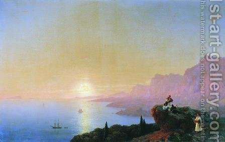 Sea bay by Ivan Konstantinovich Aivazovsky - Reproduction Oil Painting