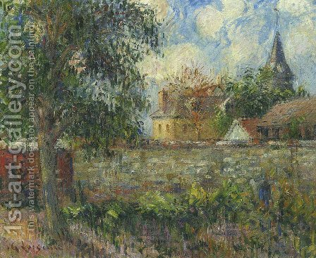 Farm in Normandy by Gustave Loiseau - Reproduction Oil Painting