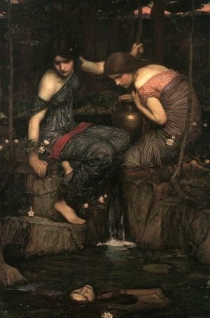 Reproduction oil paintings - Waterhouse - Nymphs Finding the Head of Orpheus