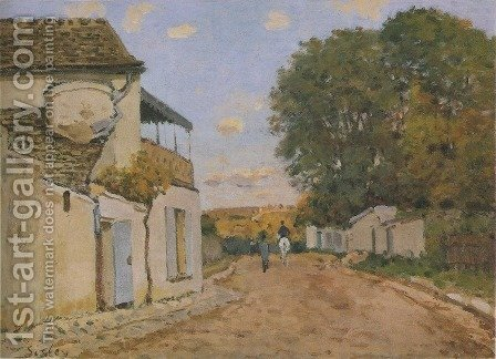 Princesse Street in Louveciennes by Alfred Sisley - Reproduction Oil Painting
