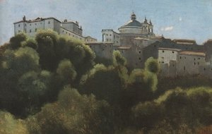 Reproduction oil paintings - Jean-Baptiste-Camille Corot - Ariccia, Palazzo Chigi