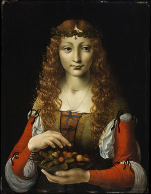 Girl with Cherries (also attributed to Giovanni Ambrogio de Predis)
