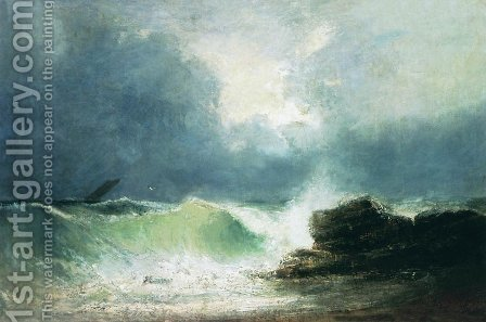 Sea coast. Wave by Ivan Konstantinovich Aivazovsky - Reproduction Oil Painting