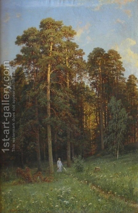 The Edge of a Pine Forest by Ivan Shishkin - Reproduction Oil Painting