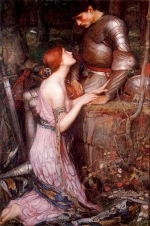 Reproduction oil paintings - Waterhouse - Lamia and the Soldier