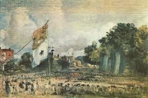 Reproduction oil paintings - John Constable - Celebration of the General Peace of 1814 in East Bergholt