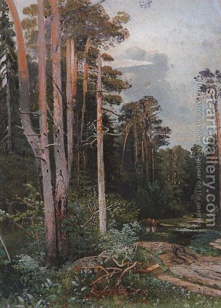 Forest road in Sokolniki by Alexei Kondratyevich Savrasov - Reproduction Oil Painting