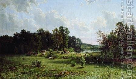 Coppice (Noon) by Ivan Shishkin - Reproduction Oil Painting