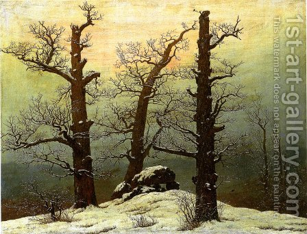 Passage grave in the snow by Caspar David Friedrich - Reproduction Oil Painting