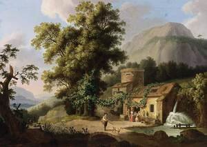 Famous paintings of Mills: View of the Copper-Mill in Vietri c. 1773