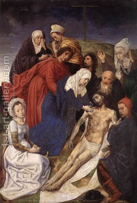 The Lamentation of Christ 1467-68 by Hugo Van Der Goes - Reproduction Oil Painting