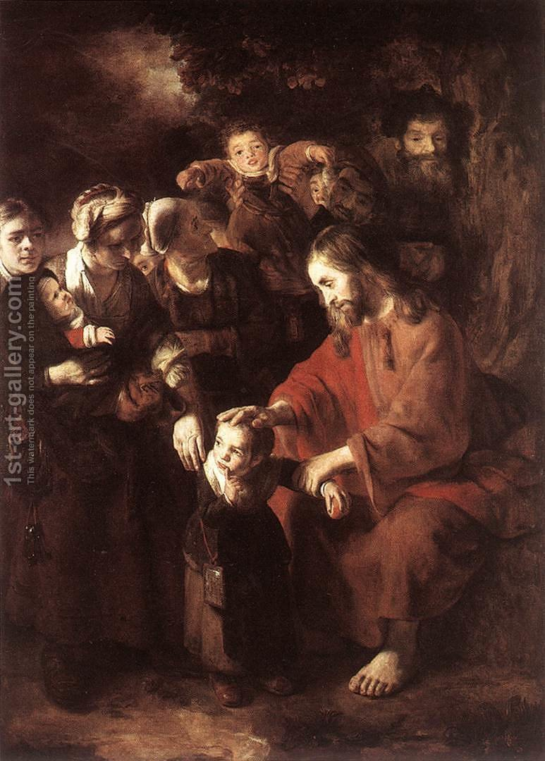Huge version of Christ Blessing the Children 1652-53