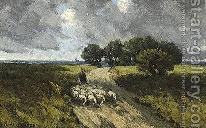 Herding Sheep by Homer Watson - Reproduction Oil Painting