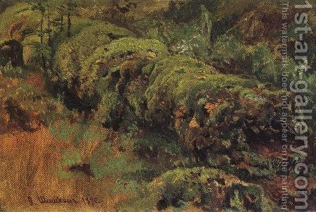 Rotten wood, covered with moss by Ivan Shishkin - Reproduction Oil Painting