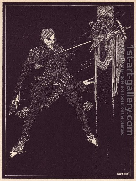 Tales of Mystery and Imagination by Edgar Allan Poe 19 by Harry Clarke - Reproduction Oil Painting