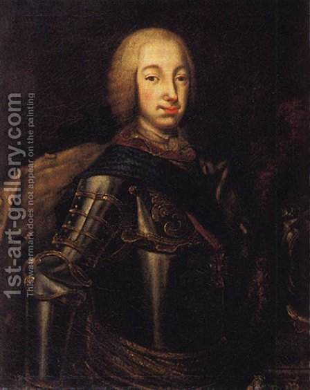 Portrait of Grand Duke Peter Fedotovich (later Peter III), by Aleksei Antropov - Reproduction Oil Painting