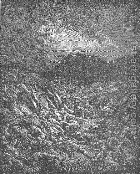 The Ammonite and Moabite Armies Are Destroyed by Gustave Dore - Reproduction Oil Painting