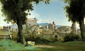 Reproduction oil paintings - Jean-Baptiste-Camille Corot - View from the Farnese gardens, Rome