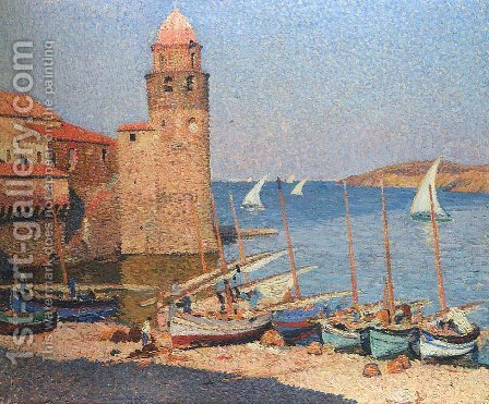 Port Collioure 3 by Henri Martin - Reproduction Oil Painting