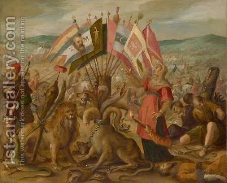 Allegorie on the battle of Braov by Hans Von Aachen - Reproduction Oil Painting