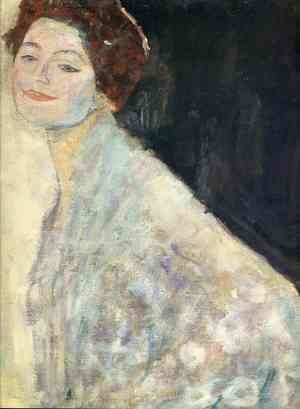 Reproduction oil paintings - Gustav Klimt - Portrait of a Lady in White (unfinished)