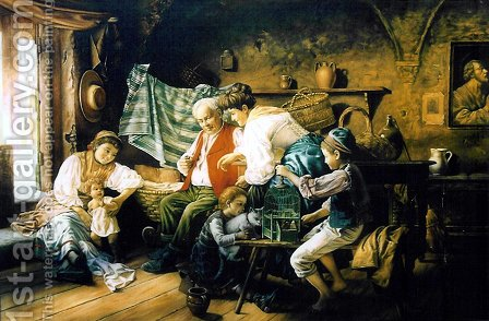 Family Games by Giovanni Battista Torriglia - Reproduction Oil Painting