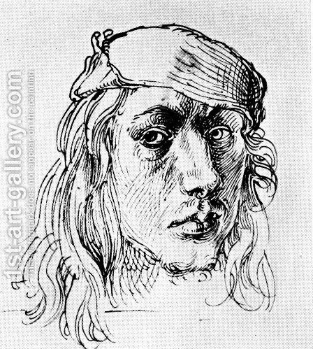 Self-Portrait 3 by Albrecht Durer - Reproduction Oil Painting