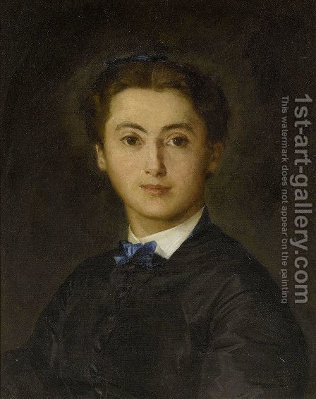 Bildnis Therese von Wyttenbach-von Fischer by Albert Anker - Reproduction Oil Painting