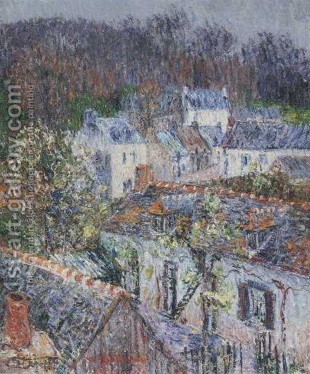 Rain in Pont-Aven by Gustave Loiseau - Reproduction Oil Painting