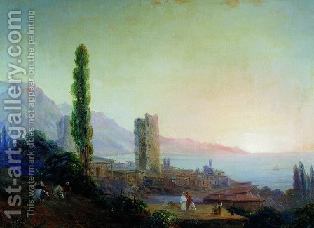Gurzuf 2 by Ivan Konstantinovich Aivazovsky - Reproduction Oil Painting