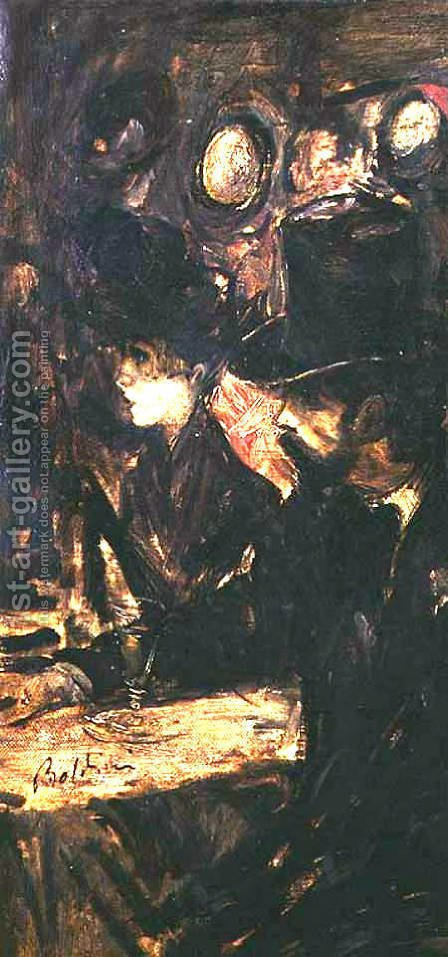 Chez Maxim's by Giovanni Boldini - Reproduction Oil Painting