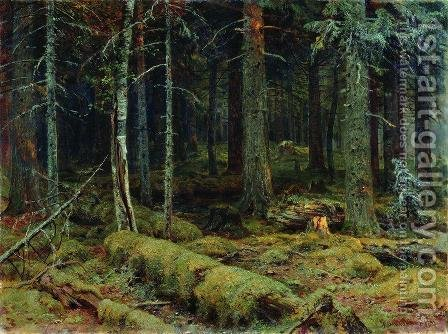Dark Forest by Ivan Shishkin - Reproduction Oil Painting