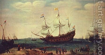 The Departure of the East Indiamen by Hendrick Cornelisz. Vroom - Reproduction Oil Painting