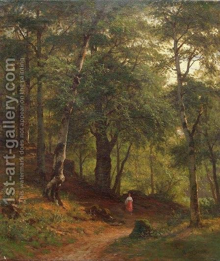Gathering Mushrooms by Ivan Shishkin - Reproduction Oil Painting
