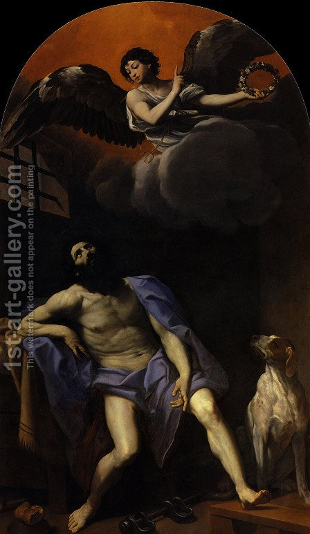 Saint Roch by Guido Reni - Reproduction Oil Painting