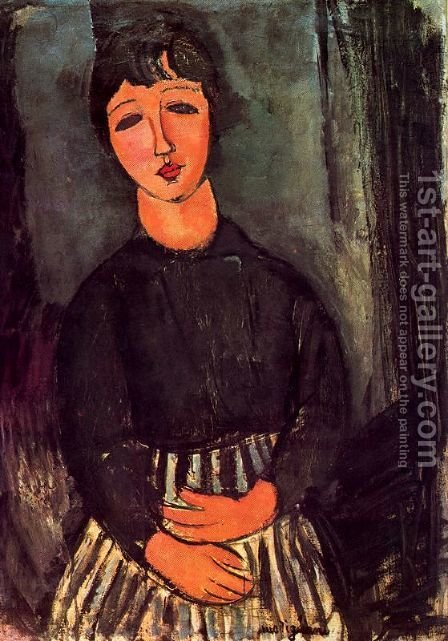 A young girl by Amedeo Modigliani - Reproduction Oil Painting