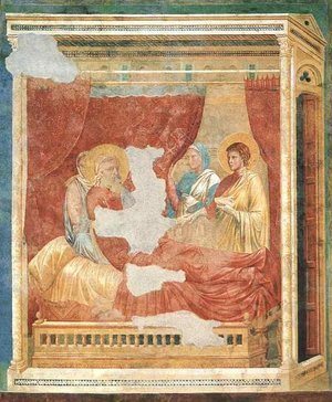 Reproduction oil paintings - Giotto Di Bondone - Isaac Blessing Jacob