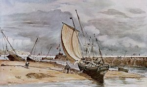 Reproduction oil paintings - John Constable - Fokstone harbour