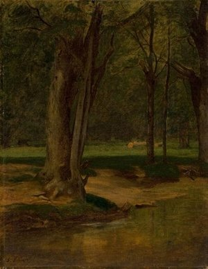 Reproduction oil paintings - George Inness - Trout Stream, North Conway