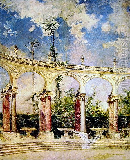 The Collonade in Versailles by Giovanni Boldini - Reproduction Oil Painting