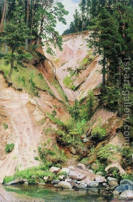 Cliff 2 by Ivan Shishkin - Reproduction Oil Painting