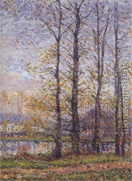 By the Oise at Precy by Gustave Loiseau - Reproduction Oil Painting